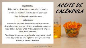 receta aceite de caléndula